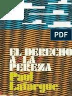 El Derecho a La Pereza - Paul Lafargue