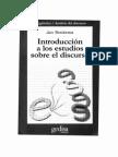 Van Dijk, Introd Estudios Discurso