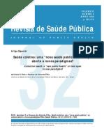 saúde coletiva - nova saúde pública