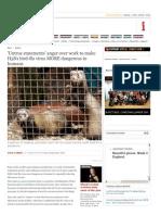 Anger Over Work to Make Genetically Engineered H5N1 Bird-Flu Virus MORE Dangerous to Humans