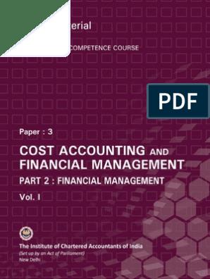 FM Vol  I | Cost Of Capital | Financial Capital