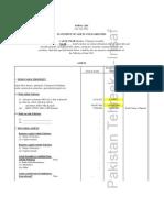 Assad Umar Taxes & Assets list