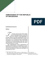 Ixhet MEMETI OMBUDSMAN OF THE REPUBLIC OF MACEDONIA