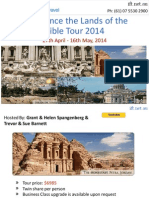Experience the Lands of the Bible Tour 2014