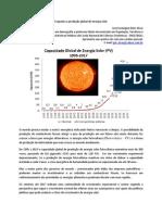 Esquenta a produção global de energia solar