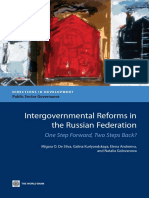 Intergovernmental Reforms in the Russian Federation