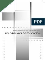 Verdades y falsedades sobre la Ley Orgánica de Educación