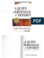 A Quien Pertenece El Dinero-John MacArthur