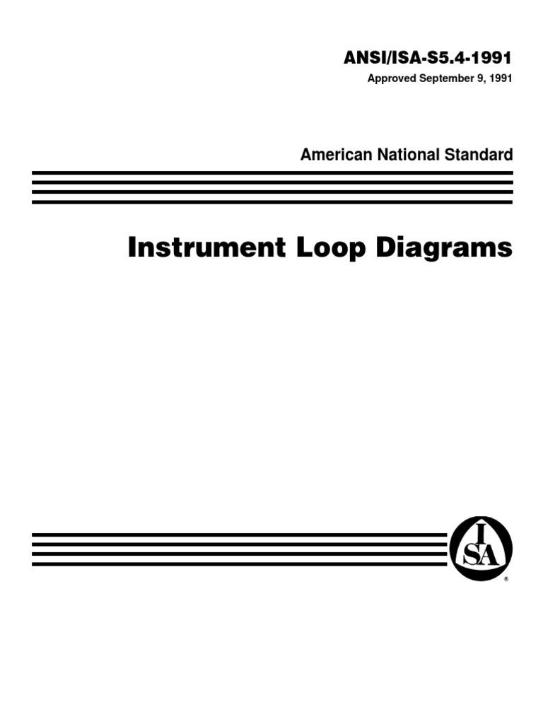 ISA 541 1991 Loop Diagrams Instrumentation Vacuum Tube