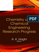Chemistry and Chemical Engineering Research Progress (2010)