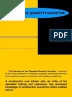 Quantity surveying dissertation