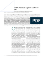 Management of Common Opioid Induced Adverse Effects