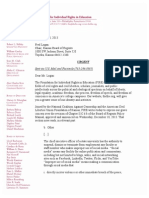 Letter to Kansas Board of Regents December 20 2013
