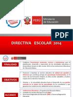 DIRECTIVA DEL AÑO ESCOLAR 2014 BORRADOR ok