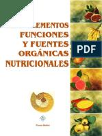 Los Oligoelementos Descripcion y Fuentes Alimentarias