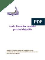 Proiect Auditul Datoriilor Doc