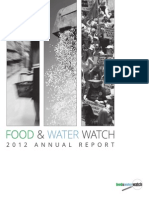 Food & Water Watch 2012 Annual Report