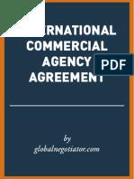 INTERNATIONAL COMMERCIAL AGENCY AGREEMENT SAMPLE