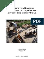 Versuch Des Betriebs Einer Eisenzeitlichen Esse Mit Dem Brennstoff Holz