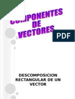 COMPONENTES DE VECTORES