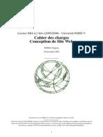 Cahier de Charge