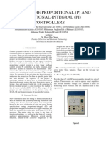 DESIGNING THE PROPORTIONAL (P) AND PROPORTIONAL-INTEGRAL (PI) CONTROLLERS Control System