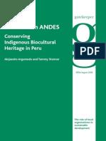 Conserving Indigenous Biocultural Heritage in Peru