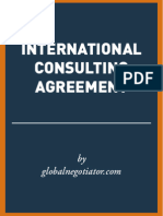 INTERNATIONAL CONSULTING AGREEMENT SAMPLE