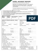 Maritime Vessel Incident Report Form