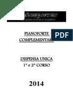 Dispensa Di Pianoforte Complementare 2014