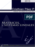 Matrices y Sistemas Lineales