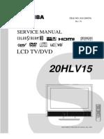 Toshiba Lcd Tv -Dvd 20hlv15_svm