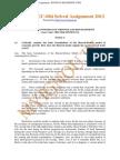 IGNOU MEC-004 Free Solved Assignment 2012