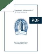 Louisiana Legislative Auditor's report Boards and  Commissions