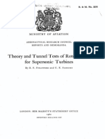 Theory and Tunnel Tests of Rotor Blades for Supersonic Turbines by B.S. Stratford and G.E. Sansome