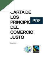 Carta Principios comercio justo