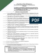 PRC Registration of Firm