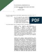 MINUTA JURISPRUDENCIAL SOBRE REC DE UNIÃO ESTÁVEL