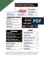 Amberjax Fish Market Grille dinner menu