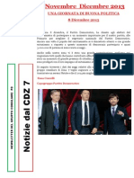 Newsletter di NOVEMBRE e DICEMBRE 2013 del Gruppo Consiliare PD di Zona 7-Milano