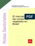 El Mercado de Las Conservas Vegetales en Brasil
