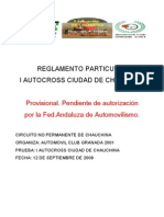Reglamento Autocross