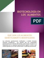 BIOTECNOLOGÍA EN alimentos