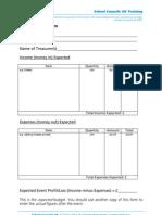 School Council Event Budget Form