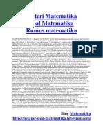 Materi Rumus Soal Matematika Lengkap