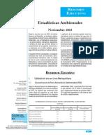 Estadísticas ambientales de noviembre del 2013