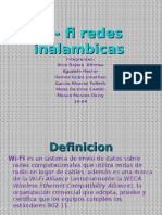Wi- Fi Redes Inalambicas