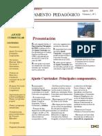 Boletín 2 Dpto Pedagógico agosto 2009
