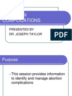 Abortion Complications