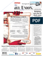 The Daily Union. December 24, 2013